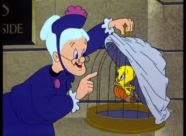 "Tweety - Granny always has her opinions. What is she telling Tweety in this  episode, ""Room and Bird?"" 